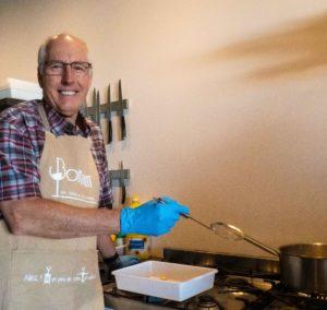 Greg, à l'atelier cuisine à Semur